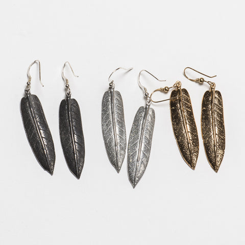 Sage Earrings - Antique Silver