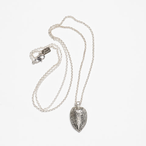 Almond Necklace - Bright Silver