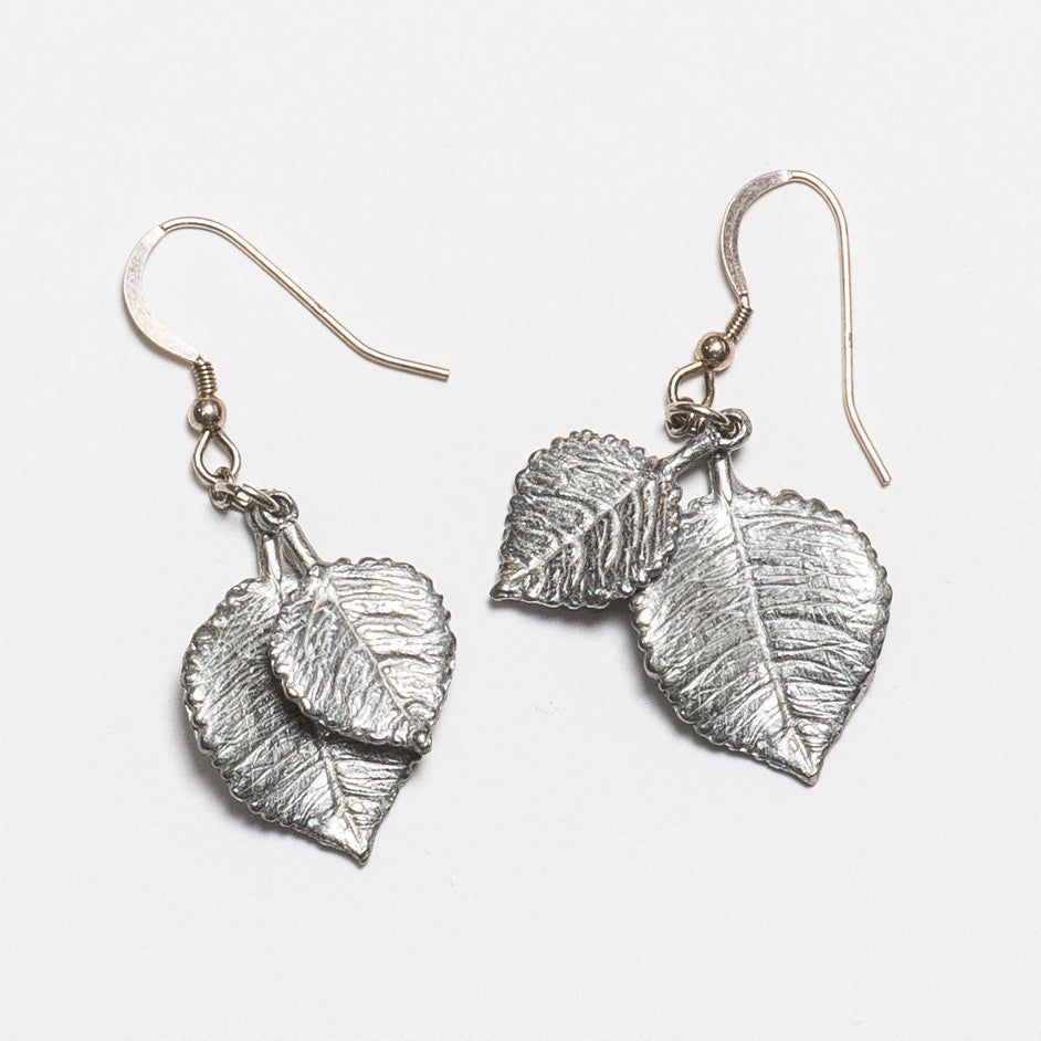 Aspen Earrings - Bright Silver