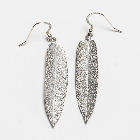 Sage Earrings - Bright Silver