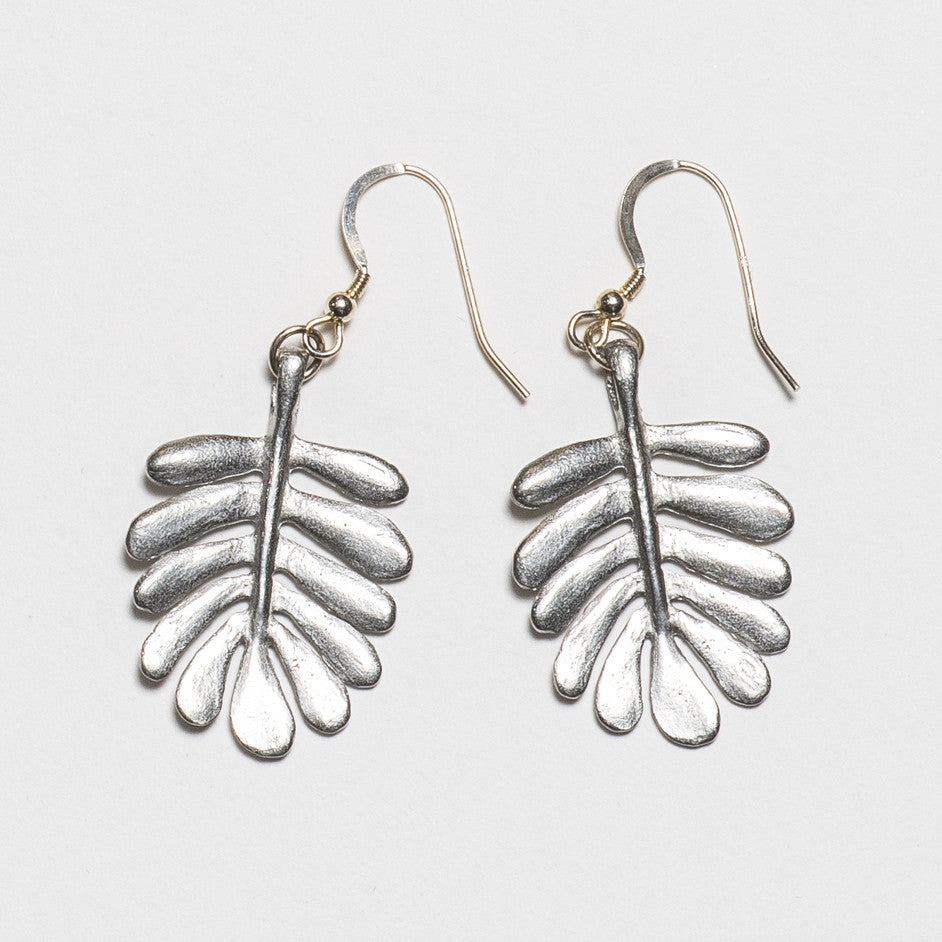 Yarrow Earrings - Bright Silver