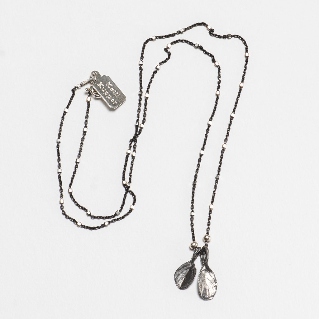 Marjoram Necklace - Antique Silver
