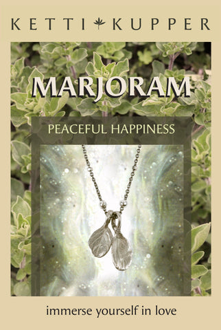 Marjoram Necklace - Bright Silver