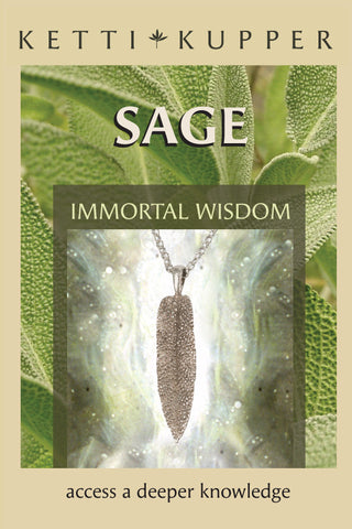 Sage Necklace - Bright Silver