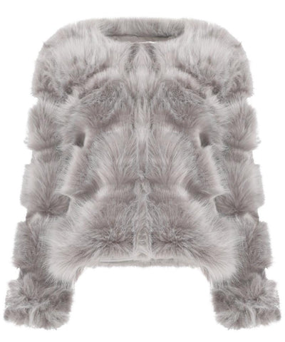 Camille Light Grey Faux Fur Coat
