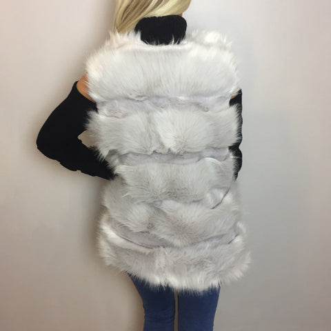 Mila Luxe Light Grey Gilet