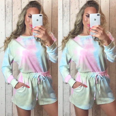 Zella Tie Dye Lounge Set Candy Mix