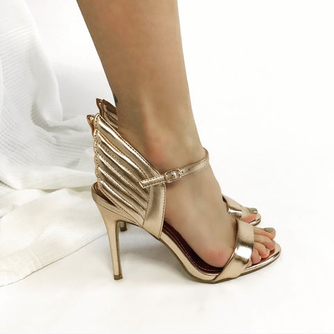 Gabriella Rose Gold Angel Wing Heels