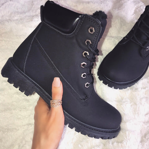 Amie All Black Ankle Boots