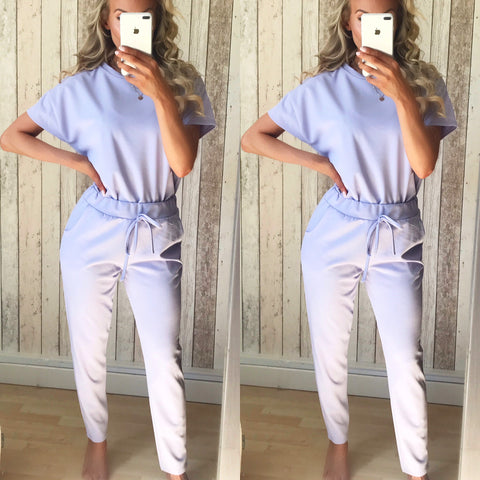 Marni Short Sleeve Loungewear Set - Lilac