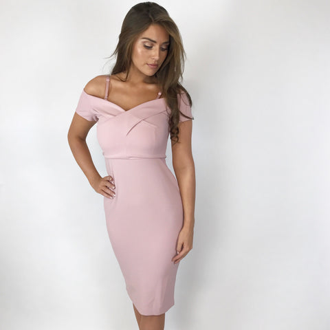 Roma Rose Sweetheart Midi Dress