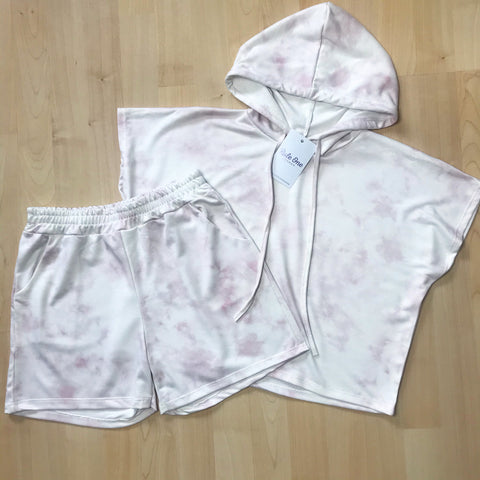 Leila Tie Dye Shorts Set Rose