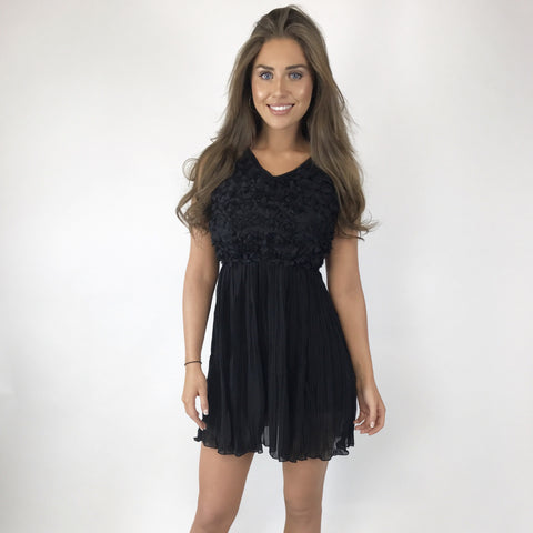 Rosie Black Petal Dress