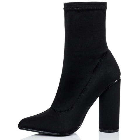 Ivy Black Ankle Boots