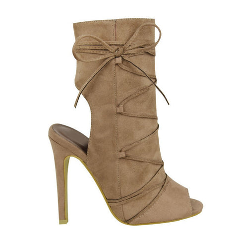 Sammie Mocha Lace-Up Ankle Boots