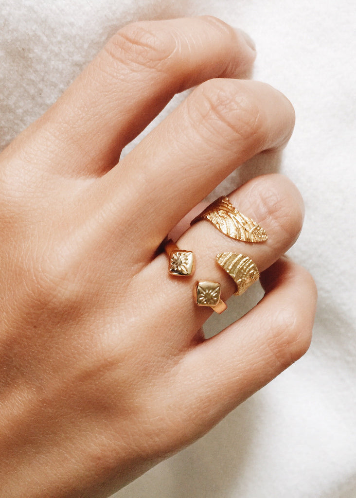 Wave Wrap Ring and Lani Cuff Ring Design By Kalaki Riot