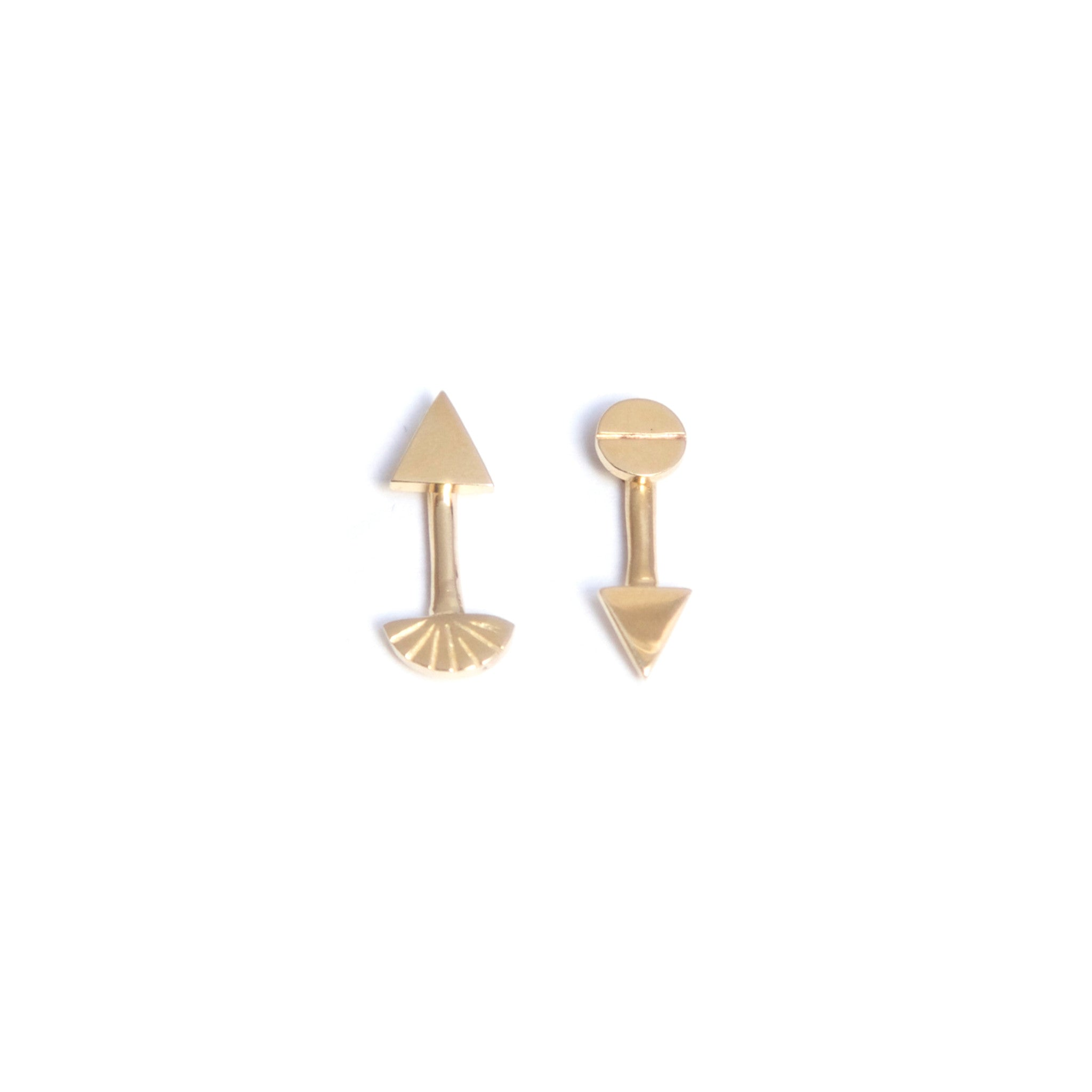 in earrings angel two tone gold drop p