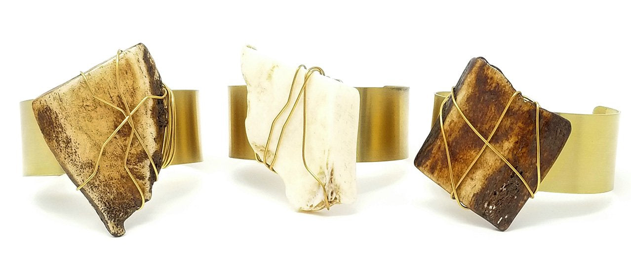 recycled metal, bone cuff, cuff, eco-friendly, ,