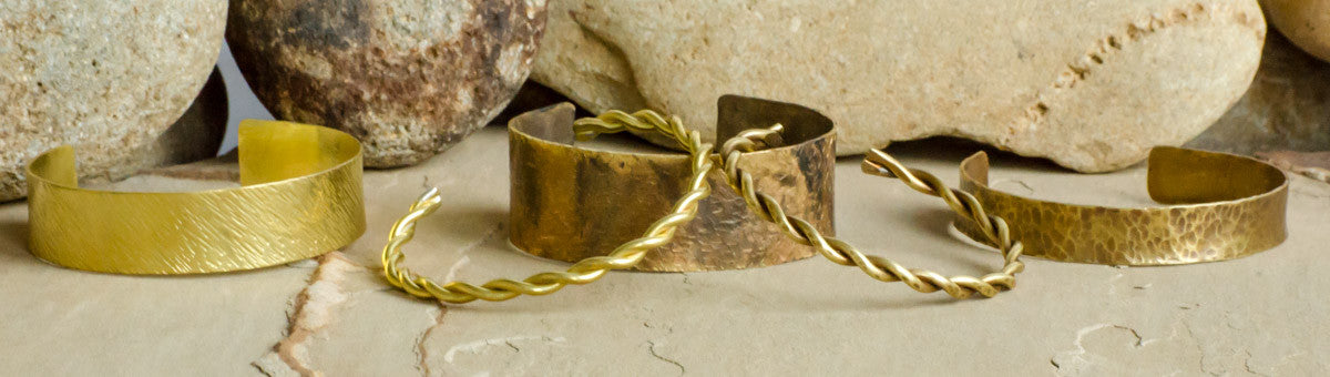 recycled metal, brass, cuffs, for men, jewelry for men, gift for men