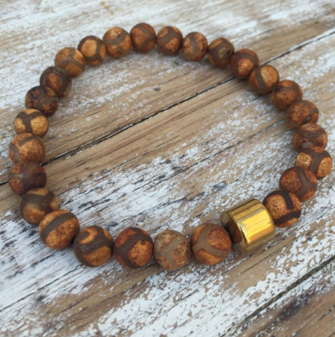 Mens Stag Collection - Tibetan Agate