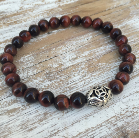 Mens Stag Collection - Red Tigers Eye