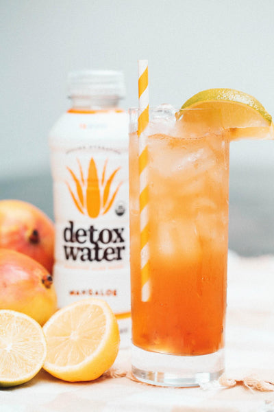 Detox Water Aloe Vera Juice Long Island Mango Iced Tea
