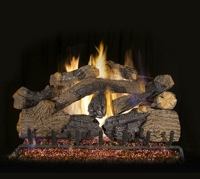 Charred Grizzly Oak Gas Log Set