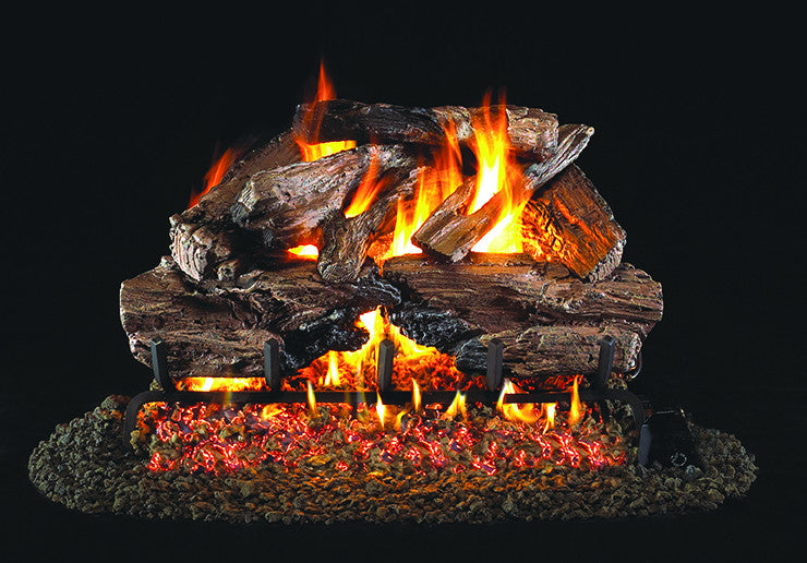 Charred Cedar Gas Log Set