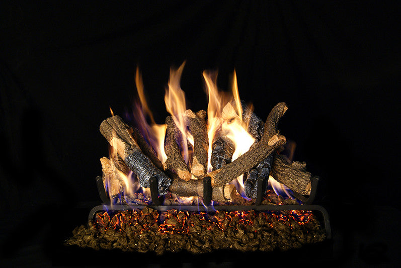 Charred Oak Stack Gas Log Set