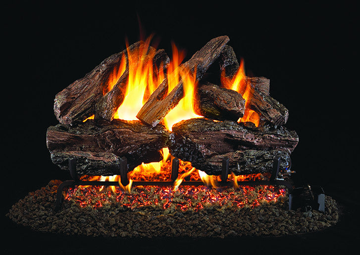 Charred Red Oak Gas Log Set