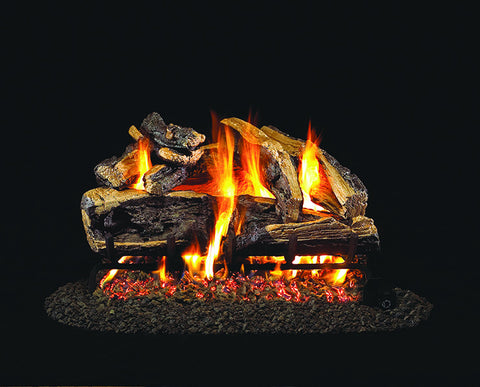 Charred Rugged Split Oak Gas Log Set