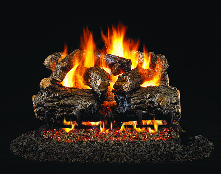 Burnt Rustic Oak Gas Log Set
