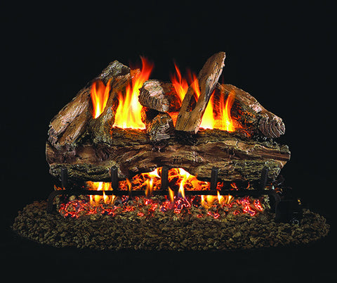 Red Oak Designer Gas Log Set