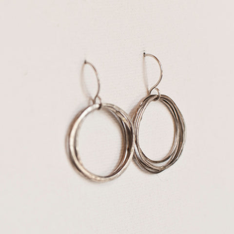 """Little Round Up"" Sterling Silver Multi-Loop Earrings"