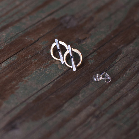 Rings of Fire stud earrings
