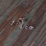 Handmade mixed metal silver stud earrings