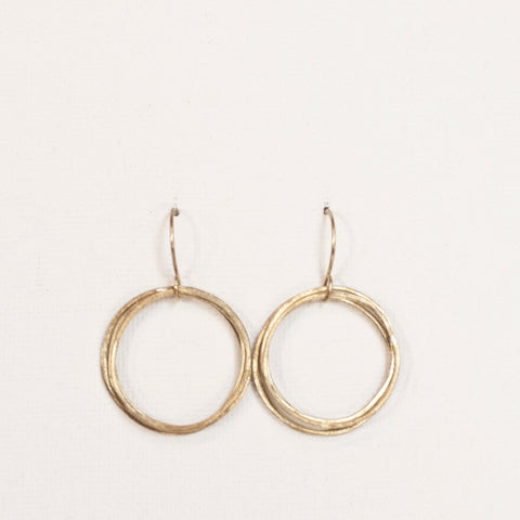 """Lil' Round Up"" - Brass Loop Earrings"