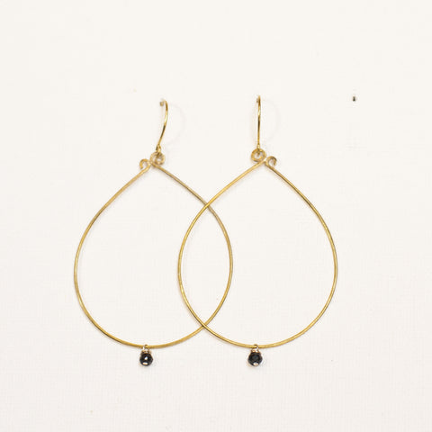 """Simplicity"" Brass Loop Earrings"