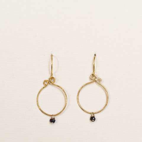 """Simplicity Mini"" Brass Loop Earrings"