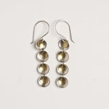 Brass and sterling silver unusual chandelier earrings