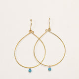 Simplicity brass earrings
