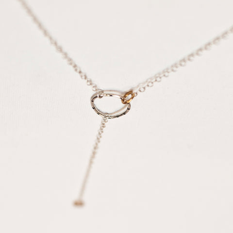 """Rings of Fire"" Circle Lariat Necklace"