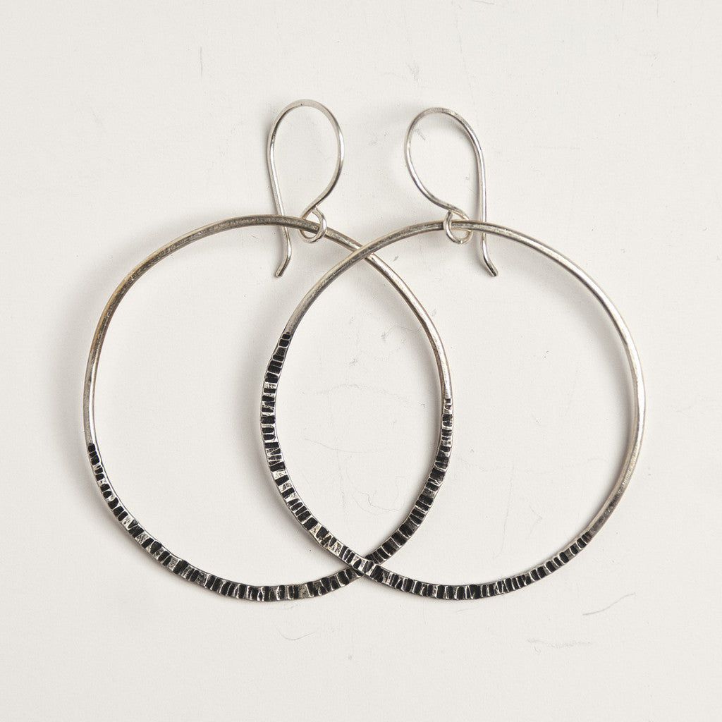 Recycled Sterling Silver 'Bonita' earrings by Julie Cooper