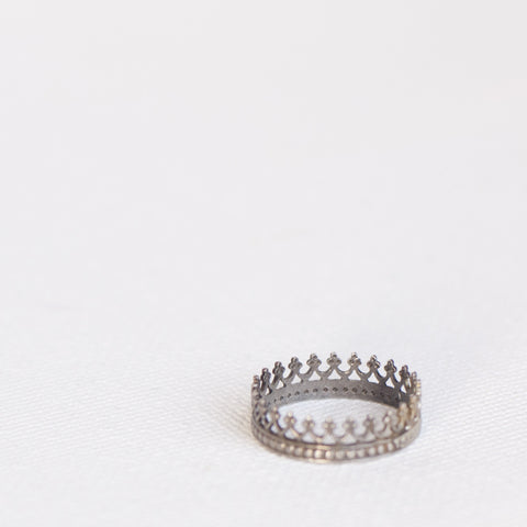 """Crown Me"" Sterling Silver Stackable Ring"