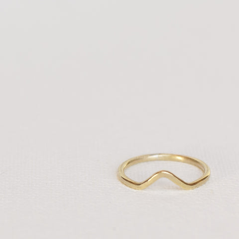 Geo Stack Brass Rings
