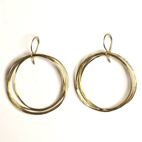 Round Up brass earrings