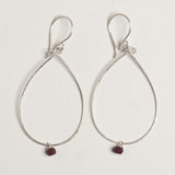Sterling silver loop earrings handmade by independent jewelry designer, Julie Cooper