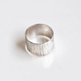 Sterling Silver unique handmade cigar band ring