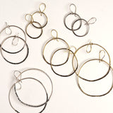 Brass handmade loop earrings by Julie Cooper