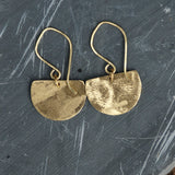 """Cleopatra"" Brushed Brass Earrings"